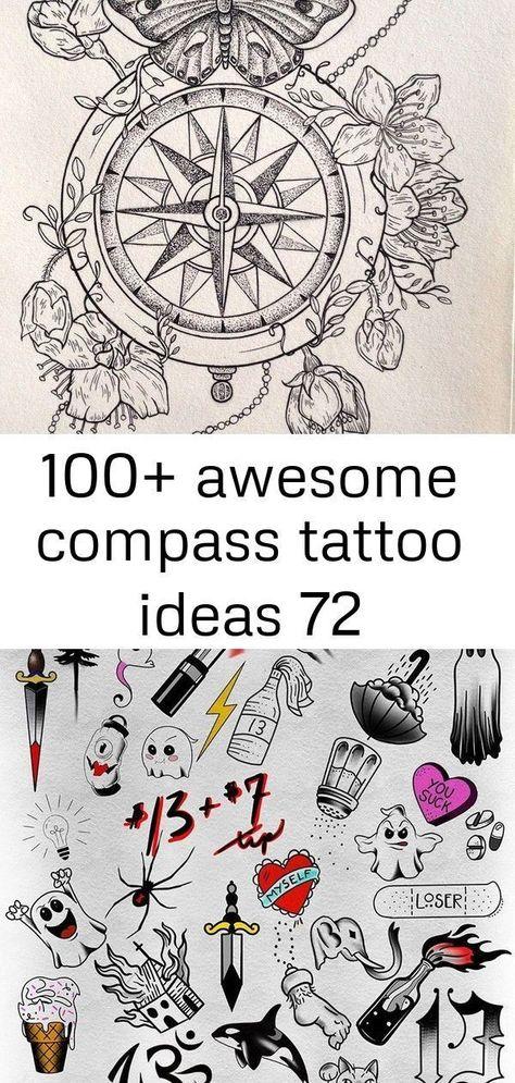 awesome compass tattoo ideas 72 - awesome compass tattoo i