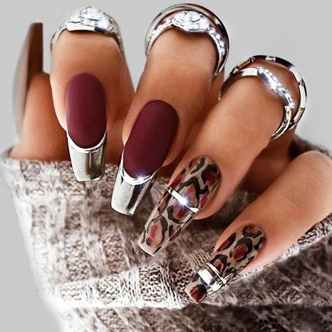+ Fantastic Burgundy Nails For Super Stylish Ladies #nails