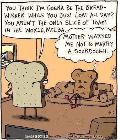 Pin By Marla Montville On Best Quotes And Funny Saying In 2020 Bread Winners Funny Cartoons Jokes Sourdough