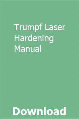 Trumpf Laser Hardening Manual Gmc Trucks Gmc Trumpf