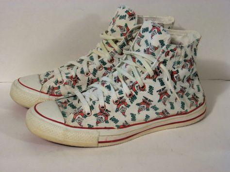 f762c7b4fb51 USA Made Vintage Converse All Star Chuck Taylor Christmas Santa Men s Size  10