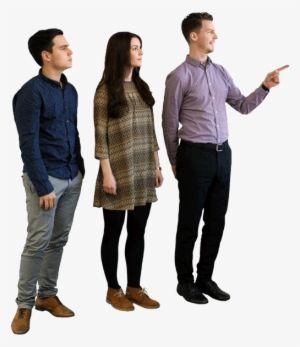 Download People Pointing Png Standing Transparent Png Download Seekpng People Png Png People