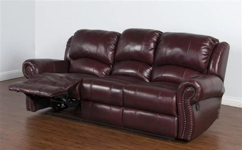 dakota cordovan grain leather dual recliner sofa standard bedroom rh pinterest com