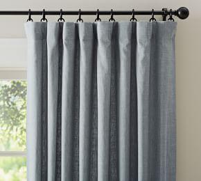 Riviera Stripe Blackout Curtain Navy Linen Curtains Drapes Curtains Blackout Drapes