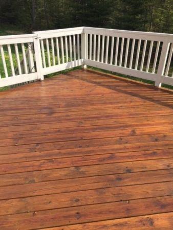 Twp 1501 Cedartone On Cedar Floor Cedar Homes Porch Steps Staining Deck