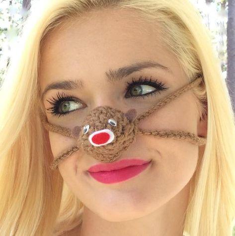 Nose Warmer Nose Cover Novelty Gift Nose Cozy Crochet Nose Warmer Birthday Gift Valentines Gift Secret Santa Gift
