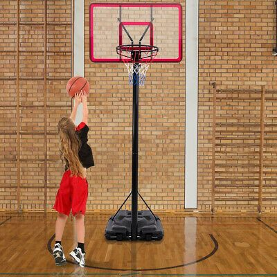 Details About 10 Height Adjustable Hoop Stand Basketball Backboard W Wheels With Images Basketball Backboard Portable Basketball Hoop Adjustable Basketball Hoop