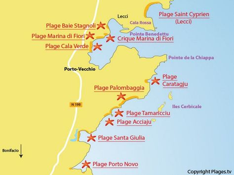 Corsica - Plages -Les plus belles autour de Porto-Vecchio.