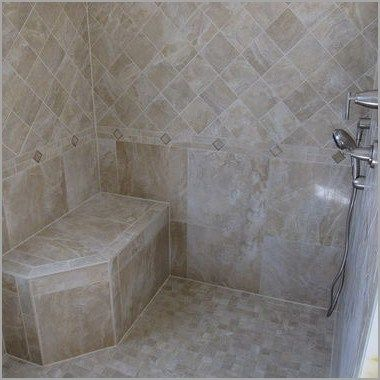 Terrific Corner Shower Stalls With Built In Seat Images Best Built