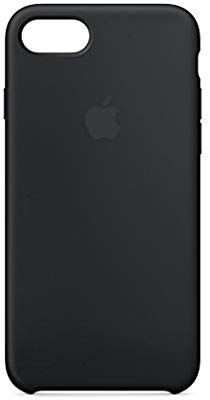 finest selection fd6cf 8cf12 Amazon.com: Apple Silicone Case (for iPhone 8 / iPhone 7) - Black ...
