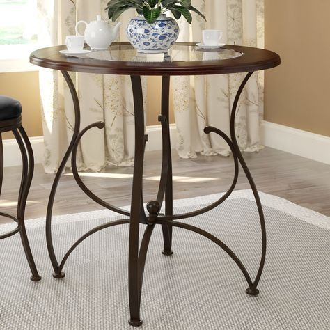 Melin Round Dining Table Counter Height Dining Table Bar Height