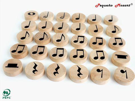 "Figuras musicales ""Pequeño Mozart"" - Set 30 unidades - Pequeño Mozart"