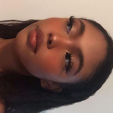 Makeup Goals, Makeup Inspo, Makeup Inspiration, Makeup Ideas, Inspiration Quotes, Beauty Make-up, Hair Beauty, Natural Makeup Looks, Black Girl Makeup Natural