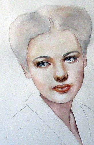 Portrait Step By Step On Watercolor Artchat Porcelain Art Plus