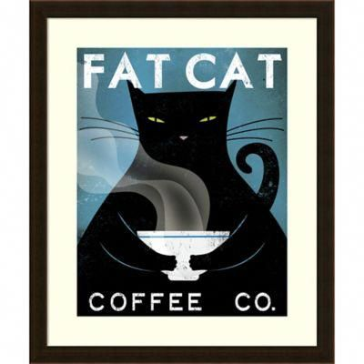 An Irresistible Work Of Art For The Coffee Lover The Cat Coffee Framed Wall Art From Amanti Art Features A Stout Black Feline Cat Coffee City Framed Art Cats