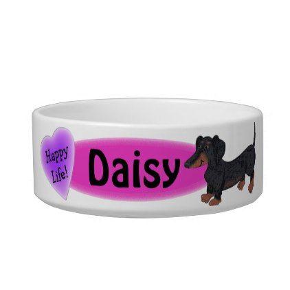 Personalized Dachshund Dog Bowl Elevated By Gpandsonwoodcrafting