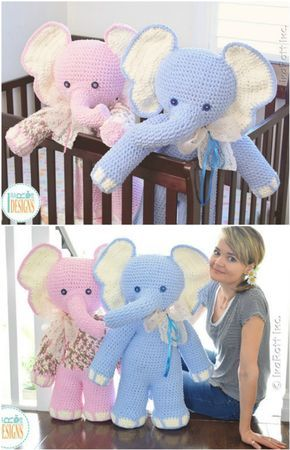 Crochet Ellie the elephant Amigurumi Pattern | Crochet elephant ... | 450x290