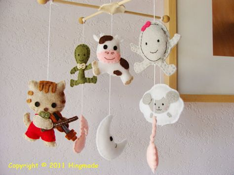 Nursery rhyme baby shower decoration and gift