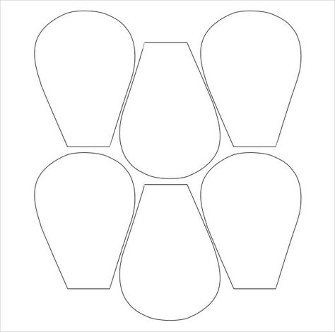 Free Printable Flower Templates To Fold And Cut Into Easy Petal