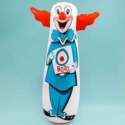 Bozo The Clown Bop Bag Inflatable Classic Toy Retro Toys
