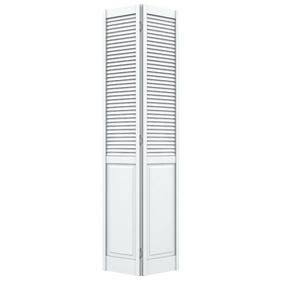 Reliabilt 23 1 2 In X 79 In Louvered Solid Core Pine Interior Bifold Closet Door Bifold Closet Doors Doors Interior Modern Renovation Hardware