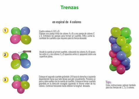 84 Ideas De Proyectos Con Globos Globos Decoración De Unas Decoración Con Globos