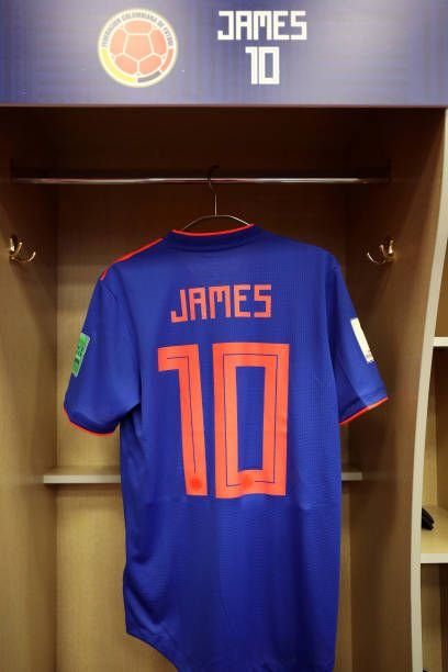 official photos 819a6 f5270 James Rodriguez of Colombia's shirt seen inside the Colombia ...