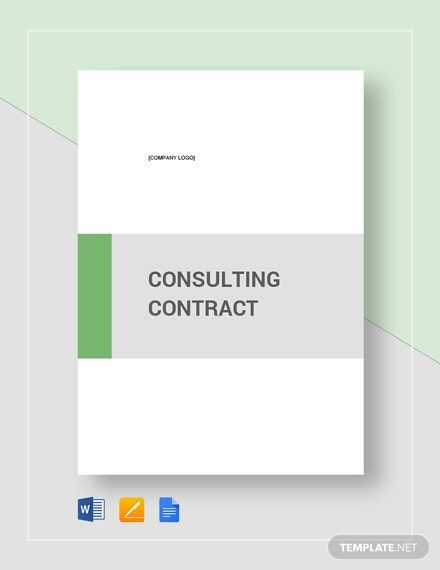 Consulting Contract Template Free Pdf Word Doc Google Docs Contract Template Business Card Template Design Word Doc