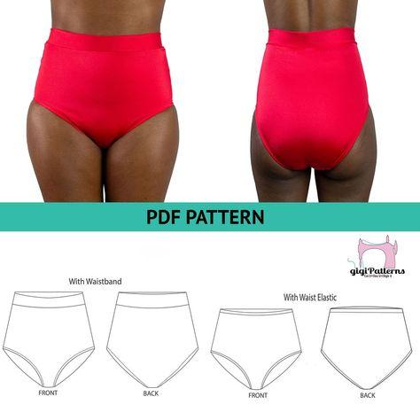 Retro High Waisted Bikini Bottom DIY | Swimsuit Patterns