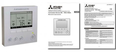 Manual del termostato PAR-31MAA de #aireacondicionado