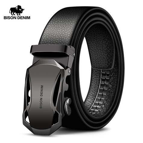Automatic Buckle Black Genuine Leather Belt Men's Belts Cow Leather Belts for Men Rugged Style, Fashion Models, Fashion Brand, Fashion Men, Fashion Guide, Mens Belts Fashion, Fashion Blogs, White Fashion, Cheap Fashion
