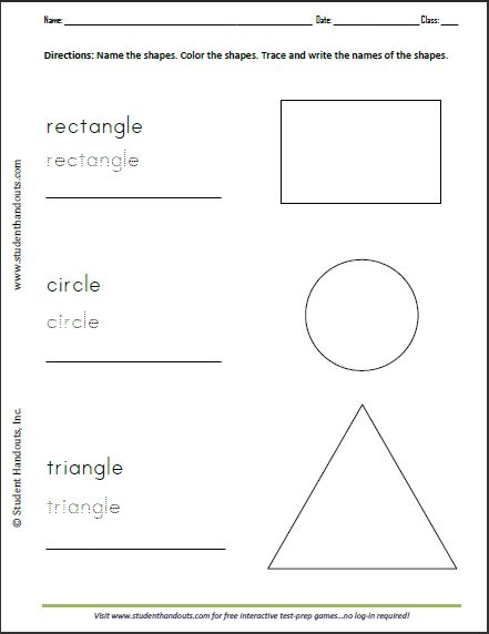 Rectangle Circle Triangle Printable Coloring And Writing Sheet For Kids Shapes Worksheets Writing Worksheets Kindergarten Addition Worksheets Color black worksheets preschool