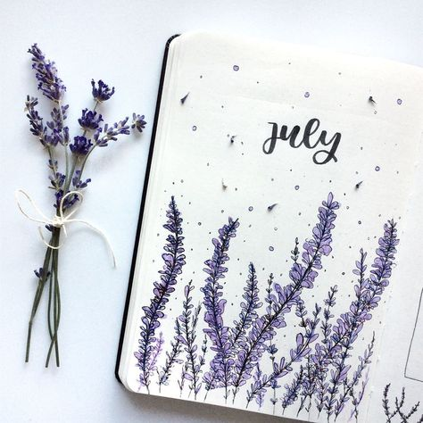 Find instant inspiration for the month covers in your bullet journal! All the ideas are just perfect for summer!