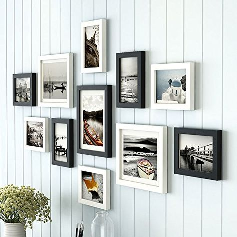 Art Street Boulevard Polymer Photo Frame 3pc 8x10 Inches 8pc 6x8 Set Of 11 Black And White Wall Decor Pictures Frames On Wall European Home Decor