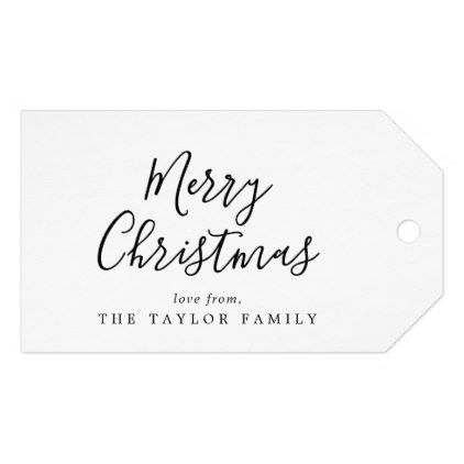 Minimalist Merry Christmas Family Holiday Gift Tags Zazzle Com Family Holiday Gifts Holiday Gift Tags Merry Christmas Family
