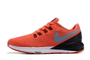 84aa5f967154d0 Mens Sneakers Nike Air Zoom Structure 22 Orange silver Black White AA1636  620