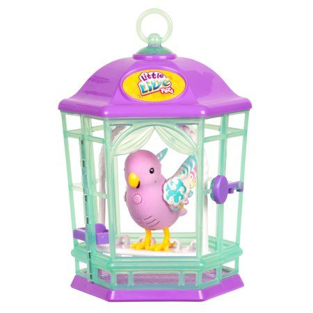 Little Live Pets Interactive Light Up Bird Electronic Pet With Cage Rainbow Glow Walmart Com Little Live Pets Indoor Toys Live Light