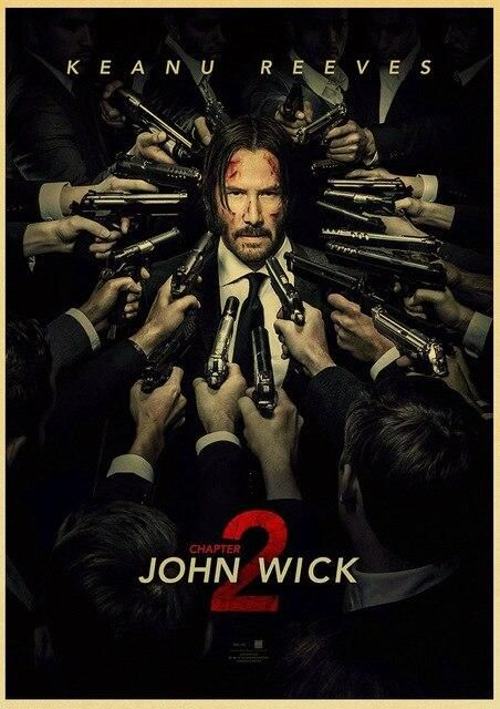 John Wick Poster Movie Poster Vintage Poster Decorative Painting Home Cafe Bar Kraft Trivoshop42x30 Cm E161 2 In 2021 Marvel Movie Posters Free Movies Online Watch John Wick