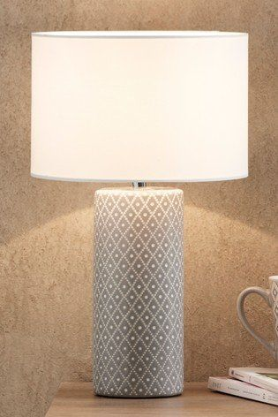 Tall Geo Table Lamp In 2020 Grey Table Lamps Table Lamp Tall