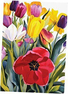 Toland Home Garden 109601 Tulip Garden 28 X 40 Inch Decorative House Flag Affilink Homeandgarden Floral Painting Flower Painting Tulips Garden