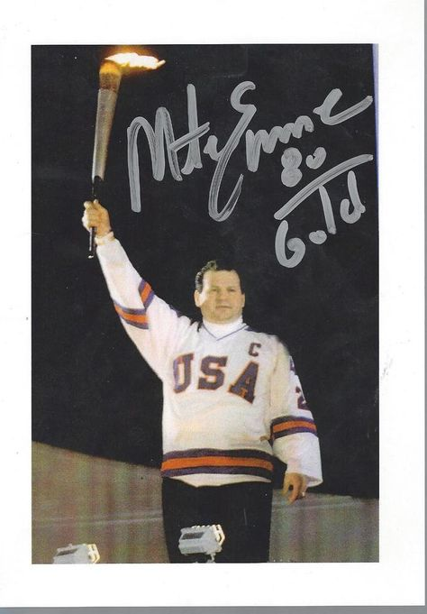 mike eruzione signed 5x7 autographed us olympic hockey 1980 gold miracle on  ice from  22.5 0bd18d9843f