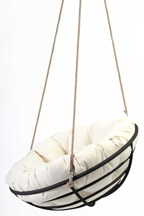 Hanging Papasan Chair Is A Great Reinterpretation Of The Old Fashioned Papasan Chair Hanging Papasan Chair Diy Hanging Chair Hanging Chair Indoor