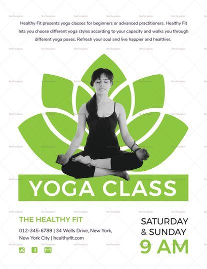 Yoga Class Flyer Template Yoga Poster Design Yoga Flyer Yoga Design