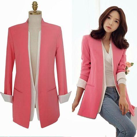 Model Baju Kantor Korea Baju In 2019 Suit Jackets For Women