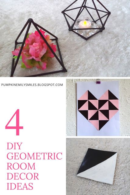 4 Diy Geometric Room Decor Ideas Winter Diy Room Decor Diy