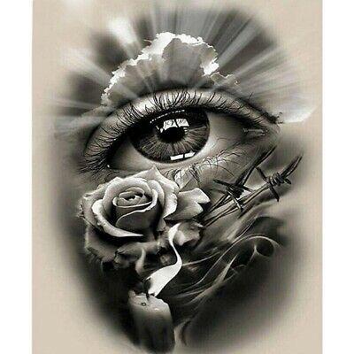 Full Square Diamonds 5D Diy Diamond Painting Abstract Roses Eyes Cross Stitch Wa