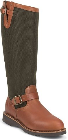"""Women's Chippewa Boots 17"""" Pull-On Snake Boot L23913 - USA Made"""