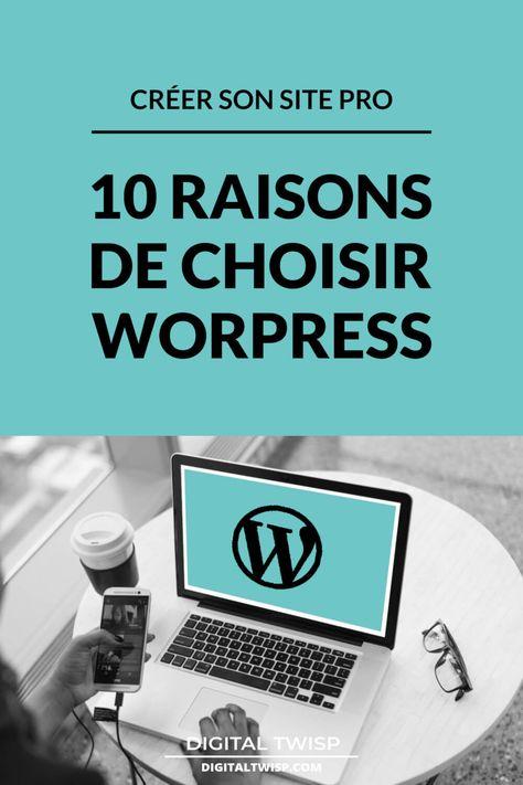 10 raisons de choisir d'utiliser Wordpress pour créer votre site web professionnel