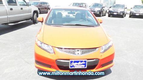 USED 2012 Honda CIVIC 2DR AUTO LX At Milton Martin Honda Used #P2197 |  Videos | Pinterest | Honda Civic And Honda