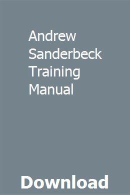 Andrew Sanderbeck Training Manual Private Investigator Training Personal History Statement Manual
